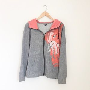 Roxy gray and coral jacket